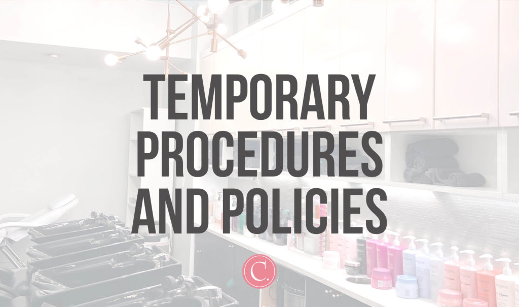 Temporary procedures and policies.